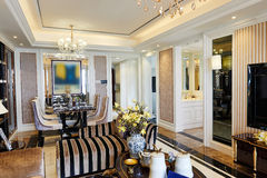 Luxury living room dining area Stock Photos
