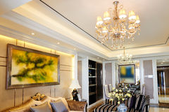 Luxury living room dining area Royalty Free Stock Photography