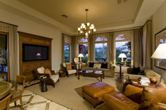 Luxury Living Room In House Royalty Free Stock Image