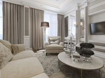 Luxury living room interior Royalty Free Stock Images