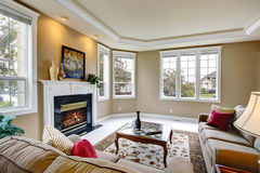 Luxury living room interior Stock Images