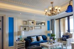 Luxury living room. Interior in villa Stock Photo