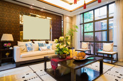 Luxury living room Royalty Free Stock Image
