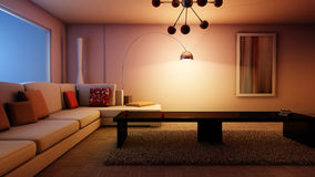 Living Room Night living room night stock illustration - image: 74334315
