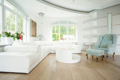 Luxury living room in pastel colors Royalty Free Stock Photos