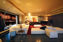 Luxury living room. In Pekin China Royalty Free Stock Photography