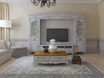 Luxury living room provence style Royalty Free Stock Photography
