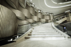 Luxury lobby interior. Royalty Free Stock Image