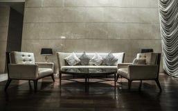 Luxury lobby interior. Stock Photos
