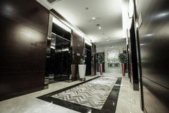 Luxury lobby interior. Royalty Free Stock Photography