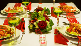 Luxury lobster table Royalty Free Stock Photo