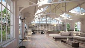 Luxury loft interiors