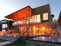 Luxury Loft / Villa Stock Image
