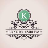 Luxury logo. Calligraphic pattern elegant decor Royalty Free Stock Photo