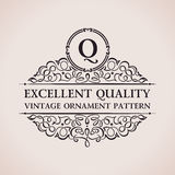 Luxury logo. Calligraphic pattern elegant decor Stock Image