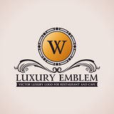 Luxury logo. Calligraphic pattern elegant decor Royalty Free Stock Photography