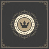 Luxury Logo template flourishes calligraphic Royalty Free Stock Image