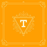 Luxury Logo template flourishes calligraphic Stock Photography