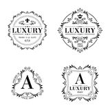 Luxury logo template ornament labels set Royalty Free Stock Images