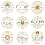 Luxury logo templates set in vintage style Royalty Free Stock Image
