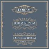 Luxury logos flourishes calligraphy elegant template vector illustration