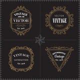 Luxury Logos Set template vintage badge frame flourishes elegant vector illustration