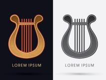 Luxury Lyre graphic. Luxury Lyre logo art graphic vector Stock Images