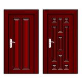 Luxury mahogany wooden door Stock Photo