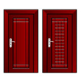 Luxury mahogany wooden door Royalty Free Stock Images