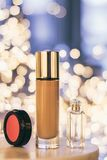 luxury make-up products, cosmetic set - beauty makeup styled concept stock photos