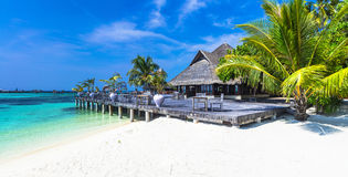Luxury Maldives vacation Stock Photo