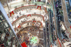 Luxury mall interior. Interior of the multi-floor luxury mall,BBK Mall ,Liuzhou,China Stock Photography