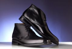 Luxury man shoes 06. Luxury black shoes for man Royalty Free Stock Photo