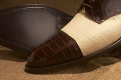 Luxury man shoes 21. Luxury black shoes for man Royalty Free Stock Photos