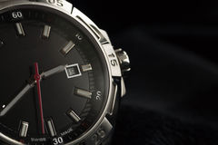 Luxury man watch detail, chronograph close up Royalty Free Stock Photos