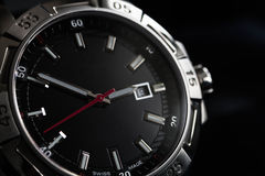 Luxury man watch detail, chronograph close up Stock Photos