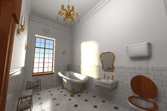Luxury manor interior - bathroom Royalty Free Stock Photos