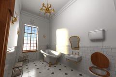 Luxury manor interior - bathroom Royalty Free Stock Photos