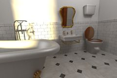 Luxury manor interior - bathroom Royalty Free Stock Image