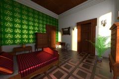 Luxury manor interior - bedroom Stock Image