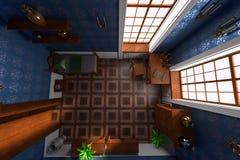 Luxury manor interior Stock Image