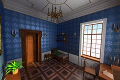 Luxury manor interior Royalty Free Stock Images