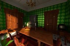 Luxury manor interior - dining room Royalty Free Stock Photography