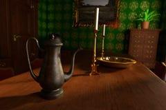Luxury manor interior - dining room Royalty Free Stock Photos