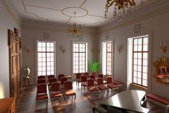 Luxury manor interior - hall Stock Image