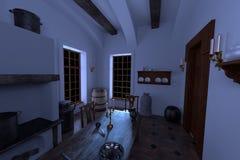 Luxury manor interior - kitchen Royalty Free Stock Photography