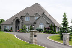 Luxury Mansion. With nice landscaping Stock Photo
