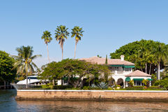 Luxury mansion. In exclusive part of Fort Lauderdale known as small Venice Stock Images
