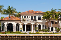 Luxury mansion. In exclusive part of Fort Lauderdale known as small Venice Stock Photography