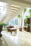 Luxury mansion. Horizontal view of spacious hall in luxury mansion Royalty Free Stock Photography